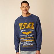 Navy 'Vintage Cars' sweat top