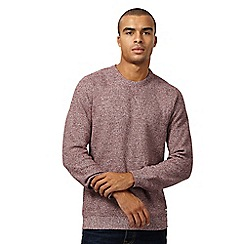 St George by Duffer - Dark red twisted knit jumper