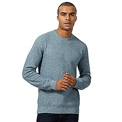 St George by Duffer - Turquoise twisted knit jumper