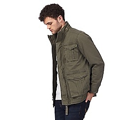 St George by Duffer - Big and tall khaki pocket jacket