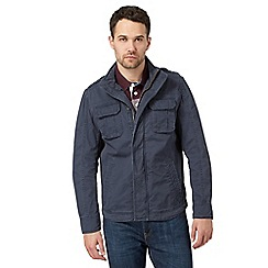 St George by Duffer - Big and tall navy four pocket jacket