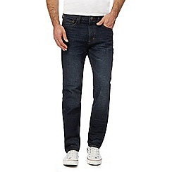 St George by Duffer - Big and tall dark blue wash straight fit jeans