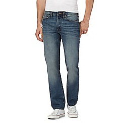 St George by Duffer - Blue vintage wash straight leg jeans