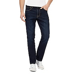 St George by Duffer - Big and tall dark blue raw wash slim fit jeans