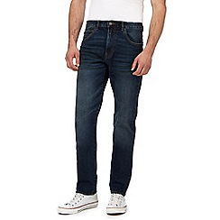 St George by Duffer - Big and tall blue mid wash slim fit jeans