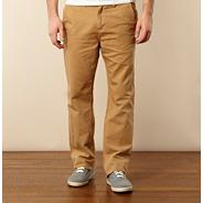 Light tan canvas straight leg chinos