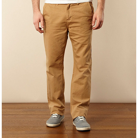 St George by Duffer - Light tan canvas straight leg chinos