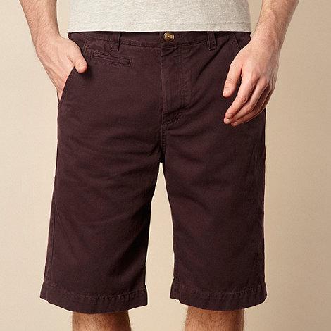 St George by Duffer - Dark purple chino shorts
