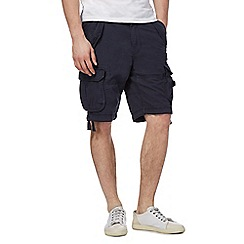 St George by Duffer - Big and tall navy cargo shorts