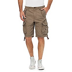 St George by Duffer - Big and tall brown cargo shorts