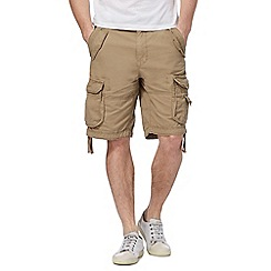 St George by Duffer - Big and tall natural cargo shorts