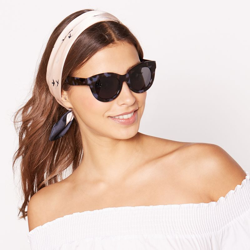 Red Herring - Black And Blue Tortoiseshell Chunky Cat-Eye Sunglasses