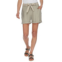 Mantaray - Grey self tie shorts