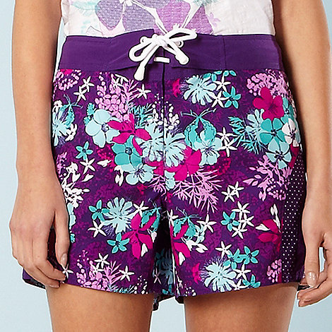 Mantaray - Purple floral board shorts