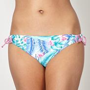 White leaf patterned bikini bottoms