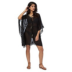Gorgeous DD+ - Black cut-out kaftan