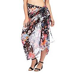 Gorgeous DD+ - Black floral print sarong