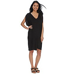 Beach Collection - Black cacoon kaftan dress