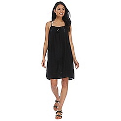 Beach Collection - Black strappy slip dress