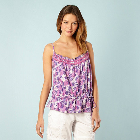 Mantaray - Lilac floral tie side camisole