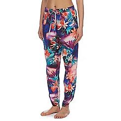 Mantaray - Multi-coloured Miami sunset drapey trousers