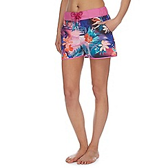 Mantaray - Multi-coloured Miami sunset board shorts