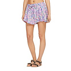 Floozie by Frost French - Lilac butterfly print bikini shorts