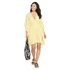 Floozie by Frost French - Light yellow bead embellished kaftan