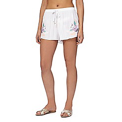 Butterfly by Matthew Williamson - White embroidered shorts