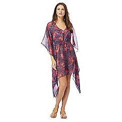 Beach Collection - Multi-coloured floral print kaftan