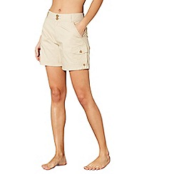 Mantaray - Light brown poplin shorts