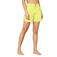 Mantaray - Lime poplin shorts
