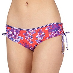 Mantaray - Red ruched bikini pants