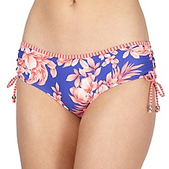 Mantaray - Royal blue ruched bikini pants