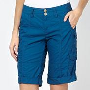 Dark blue cargo shorts