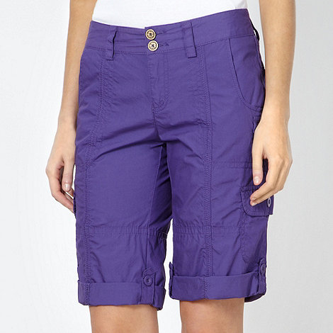 Mantaray - Purple cargo shorts