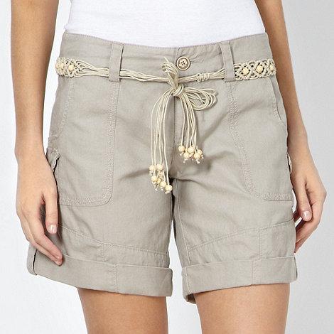 Mantaray - Natural woven shorts