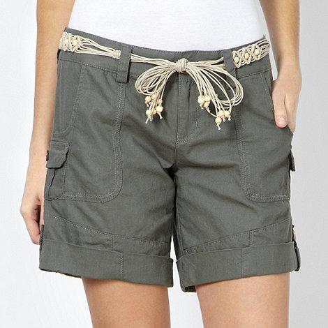 Mantaray - Khaki woven shorts