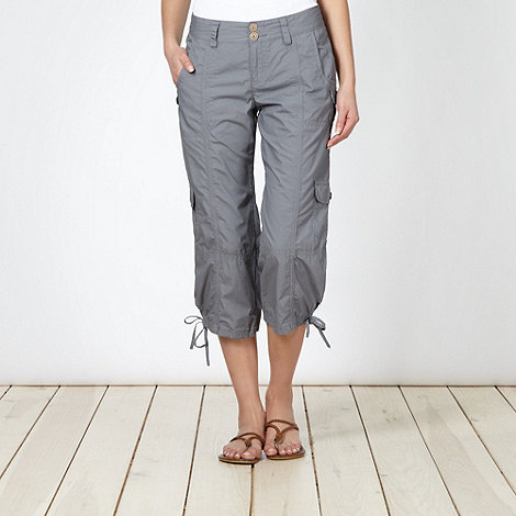 Mantaray - Grey cropped cargo trousers