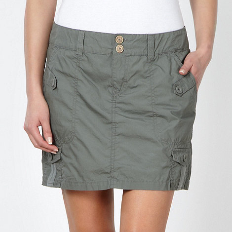Mantaray - Khaki cargo skirt