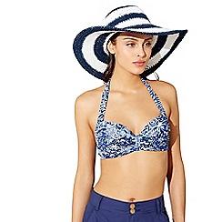 Mantaray - Navy stripe coastal hat
