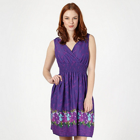 Mantaray - Purple woven floral dress