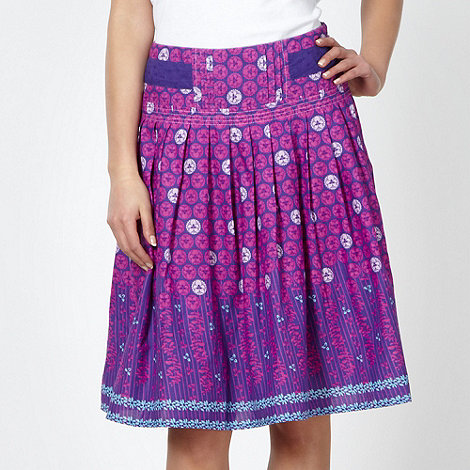 Mantaray - Purple floral skirt