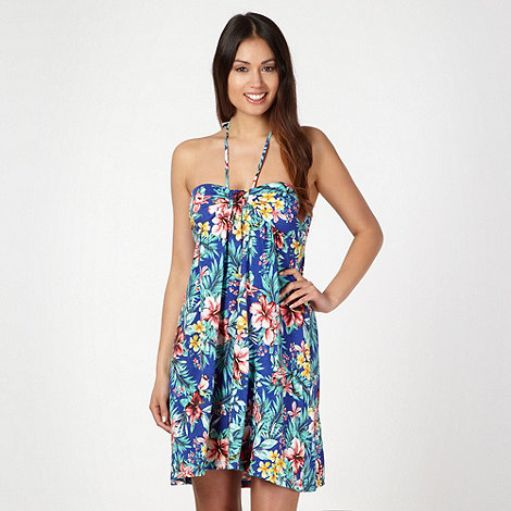Mantaray - Blue floral bandeau dress