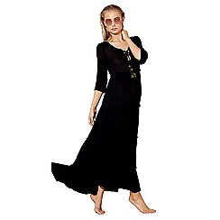 MW by Matthew Williamson - Black tiered maxi beach dress