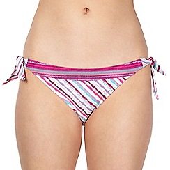 Mantaray - Multi 'Georgia' textured bunny tie briefs