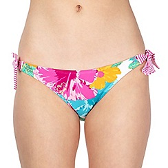 Mantaray - White floral bunny tie bikini bottoms