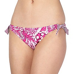 Mantaray - Pink flower print bunny tie bikini bottoms