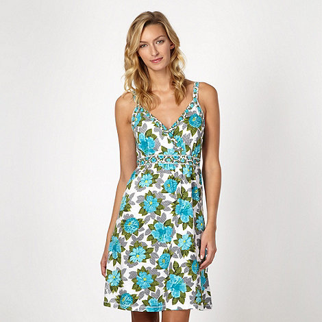 Mantaray - White floral strap dress