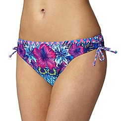 Mantaray - Blue floral ombre bikini bottoms